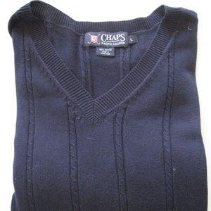 CHAPS Ralph Lauren cable knit mens vest L